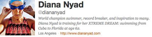 Diana Nyad en Twitter