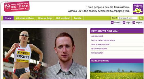 Wiggins en Asthma UK